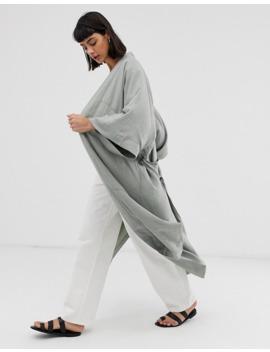 Oversize кимоно шалфейно зеленого цвета Weekday by Weekday