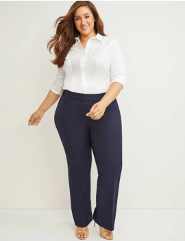 Curvy Allie Tailored Stretch Trouser Pant by Lane Bryant