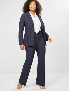 Allie Sexy Stretch Boot Pant   Navy Pinstripe by Lane Bryant