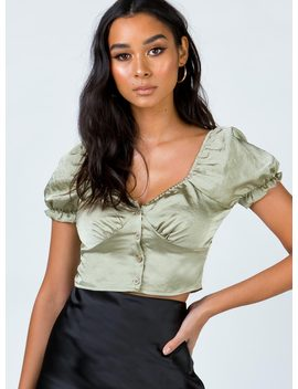 Eros Top Khaki by Princess Polly