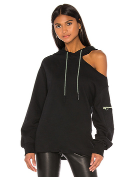 X Revolve Long Sleeve Terry Hoodie In Black by Jonathan Simkhai