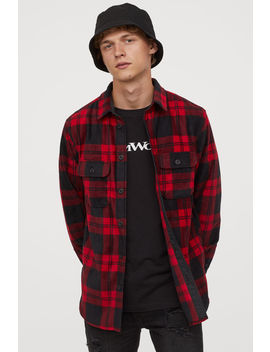 Checked Fleece Shirt by H&M
