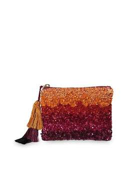 Ombre Pink Sequin Pouch by Olivar Bonas