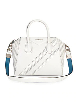 Small Antigona Perforated Leather Satchel by Givenchy