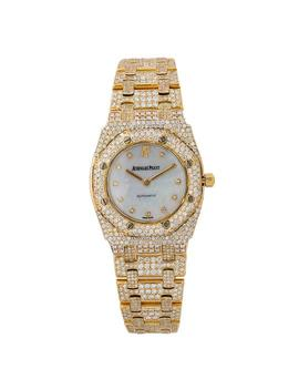 Royal Oak 27mm 67075ba White Diamond Dial With 9.00 Ct Watch by Audemars Piguet