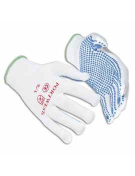 Nylon Polka Dot Work Gloves For Safety With Grip A110 Quality Non Slip Diy New by Ebay Seller
