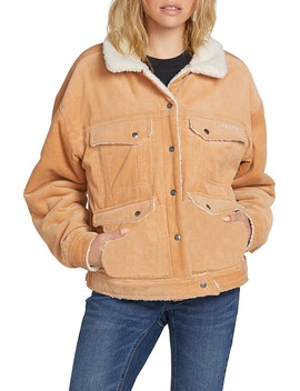 Woodstone Reversible Corduroy & Fleece Jacket by Volcom