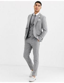 Gianni Feraud – Wedding – Schmaler Tweed Anzug Aus Wollmischung by Asos