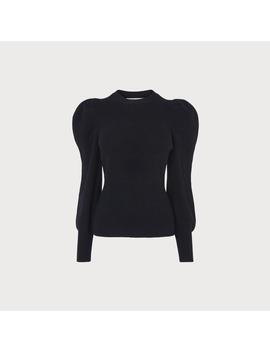 Kristen Navy Exaggerated Sleeve Jumper by L.K.Bennett