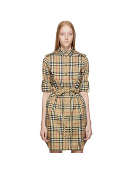 Beige Agnes Dress by Burberry