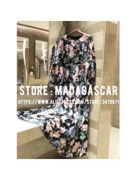 Linen Floral Print Puff Sleeve Long Dress 2019 Women's Autumn Quality Bohemian Long Sleeve Elegant Dress Maxi Dress by Ali Express.Com