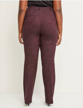 Allie Sexy Stretch Boot Pant   Paisley Jacquard by Lane Bryant