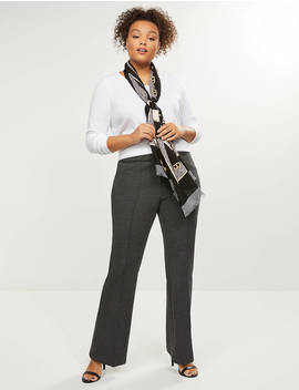Allie Ponte Twill Flare Pant by Lane Bryant