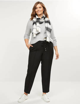 Tailored Stretch Pull On Ankle Pant by Lane Bryant