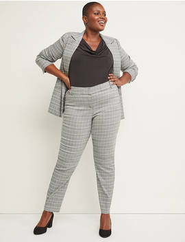Power Pockets Allie Sexy Stretch Ankle Pant   Plaid by Lane Bryant