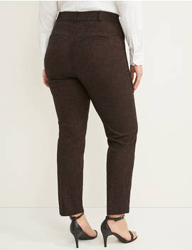 Power Pockets Allie Sexy Stretch Ankle Pant   Paisley Jacquard by Lane Bryant