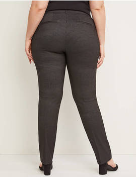 Allie Sexy Stretch Straight Leg Pant   Striped by Lane Bryant
