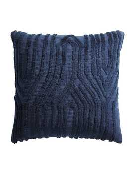 Textured Chevron Navy Pillow by Pier1 Imports