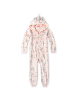 Girls Mommy And Me Halloween Costume Unicorn Dreams Matching Fleece One Piece Pajamas by Children's Place