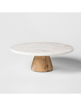 Marble & Acacia Cake Stand   Project 62™ by Shop Collections