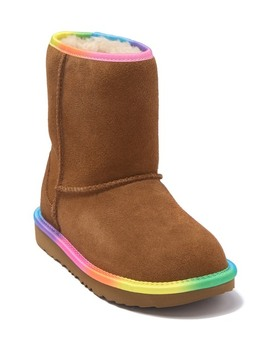 Rainbow Genuine Shearling Lined Boot (Little Kid) by Ugg