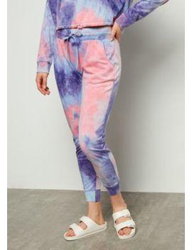Purple Tie Dye Drawstring Joggers by Rue21