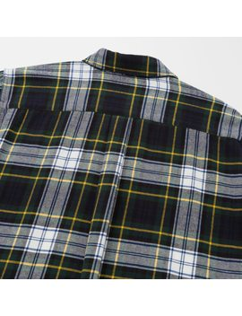 Women Jw Anderson Flannel Checked Long Sleeved Tunic by Uniqlo