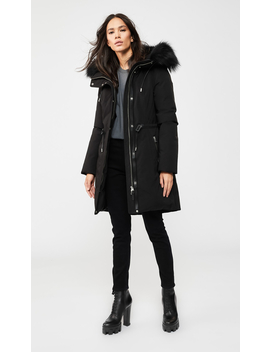 Down Parka With Removable Natural Fur Trim by Anabelanabel