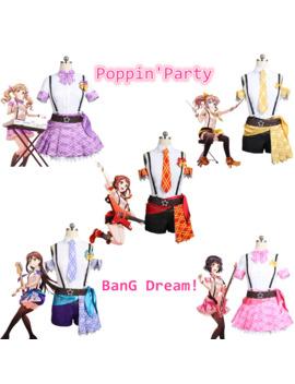 Cosplay Costume Ban G Dream! Poppin'party Ichigaya Arisa Yamabuki Saaya Ushigome Rimi Hanazono Tae Toyama Kasumi Anime Halloween by Ali Express.Com