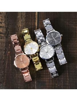 Montre Femmes Robe En Acier Inoxydable Bande Analogique Quartz Montre Bracelet Mode Luxe Dames Or Rose Montre Horloge Analogique # A by Ali Express.Com