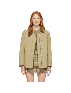 Beige Cotswald Jacket by Burberry
