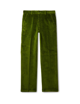Green Cotton Corduroy Suit Trousers by Ami