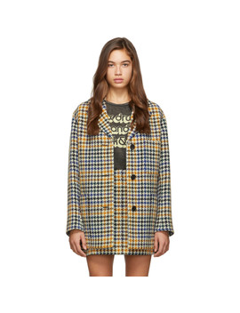 Multicolor Check Pocket Coat by Mcq Alexander Mcqueen