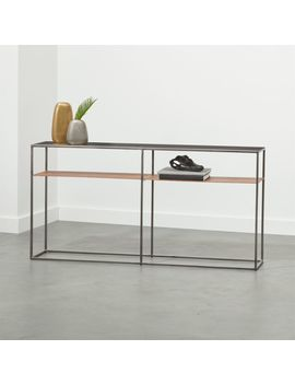 Mill Leather Console Table by Crate&Barrel