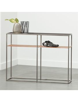 Mill Mini Leather Console Table by Crate&Barrel