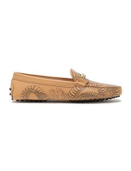 Printed Leather Loafers by Tod's