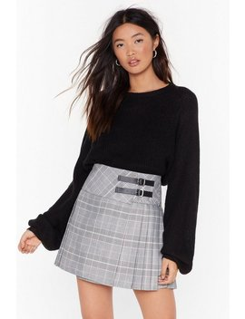 Pleat Me Right Check Mini Skirt by Nasty Gal