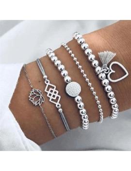 Boho Bracelets Porte Bonheur & Bracelets Ensemble Pour Femmes Vintage Perlé Bracelet Mode Multicouche Pulseras Accessoires Mujer 2019 Bijoux by Ali Express.Com