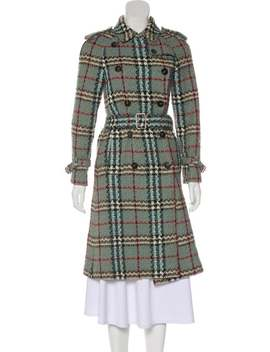 Patterned Wool Coat by Burberry London