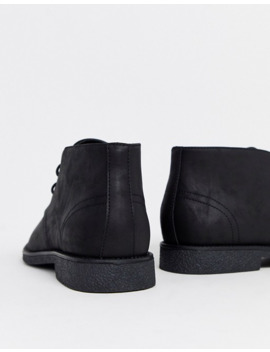 New Look Faux Suede Desert Boot In Black by New Look