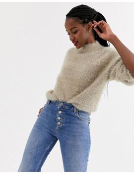 Asos Design Fluffy Oversized Sweater by Asos Design