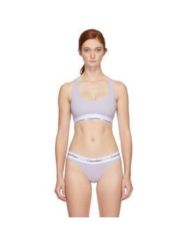 Purple Modern Bralette by Calvin Klein Underwear