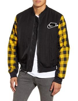 Sportswear Buffalo Check Synthetic Fill Bomber Jacket by Nike