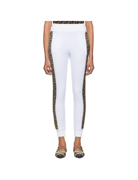 White 'forever Fendi' Band Lounge Pants by Fendi