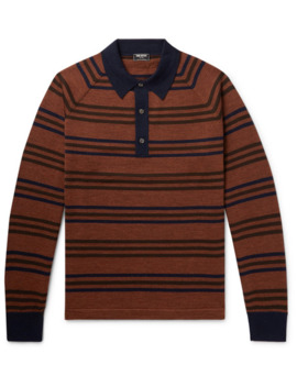 Striped Merino Wool Polo Shirt by Todd Snyder