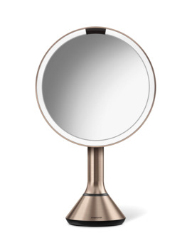 "8"" Sensor Makeup Mirror With Brightness Control, Rose Tone by Simplehuman"