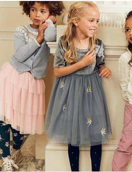 Velvet Appliqué Dress by Boden