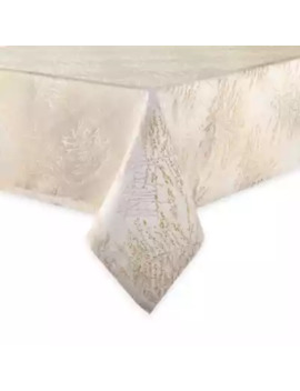 Waterford® Linens Timber 70 Inch X 84 Inch Oblong Tablecloth In Gold/Silver by Bed Bath And Beyond