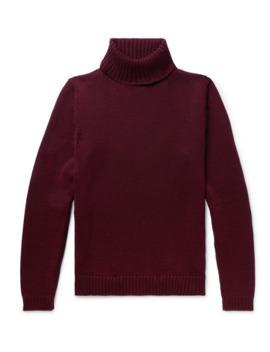 Slim Fit Virgin Wool Rollneck Sweater by Incotex
