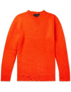 Distressed Alpaca Blend Sweater by Stella Mc Cartney